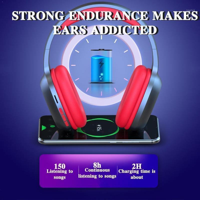 T5 HiFi Active Noise Cancelling Wireless Headphones Collapsible Earphones over Microphone Bluetooth Headset With 5.0 Ear Q8U21
