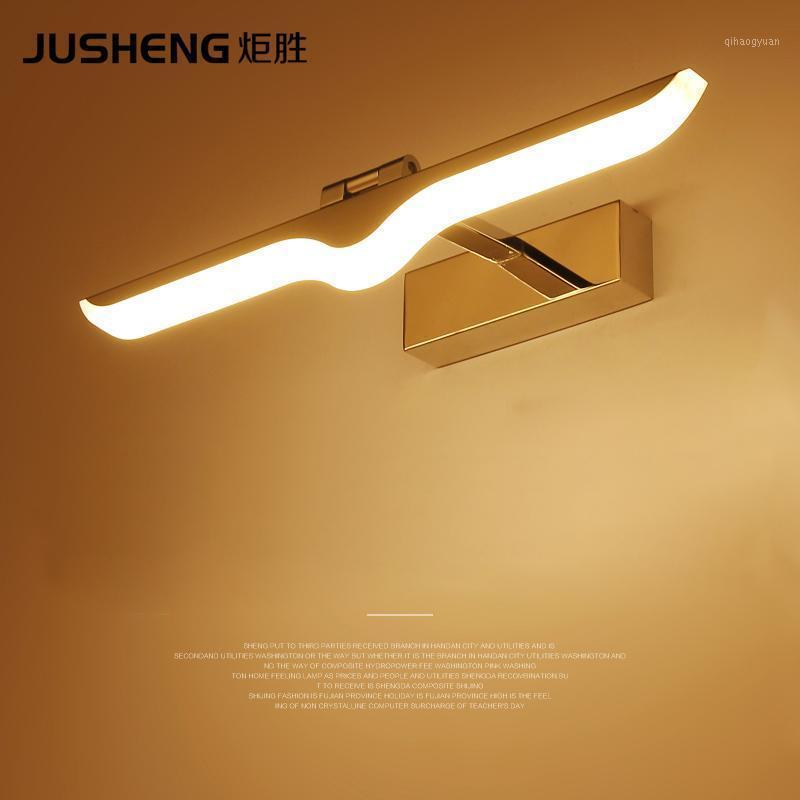 JUSHENG MODERNE LED Wandleuchte Chrom Sconce für Innenbad Wohnzimmer Spiegelbeleuchtung Leuchten 100-240V1