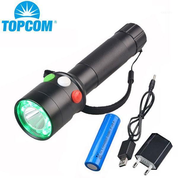 Señal ferroviaria para caminatas de caza LED 5W blanco rojo modos de luz verde Torch1