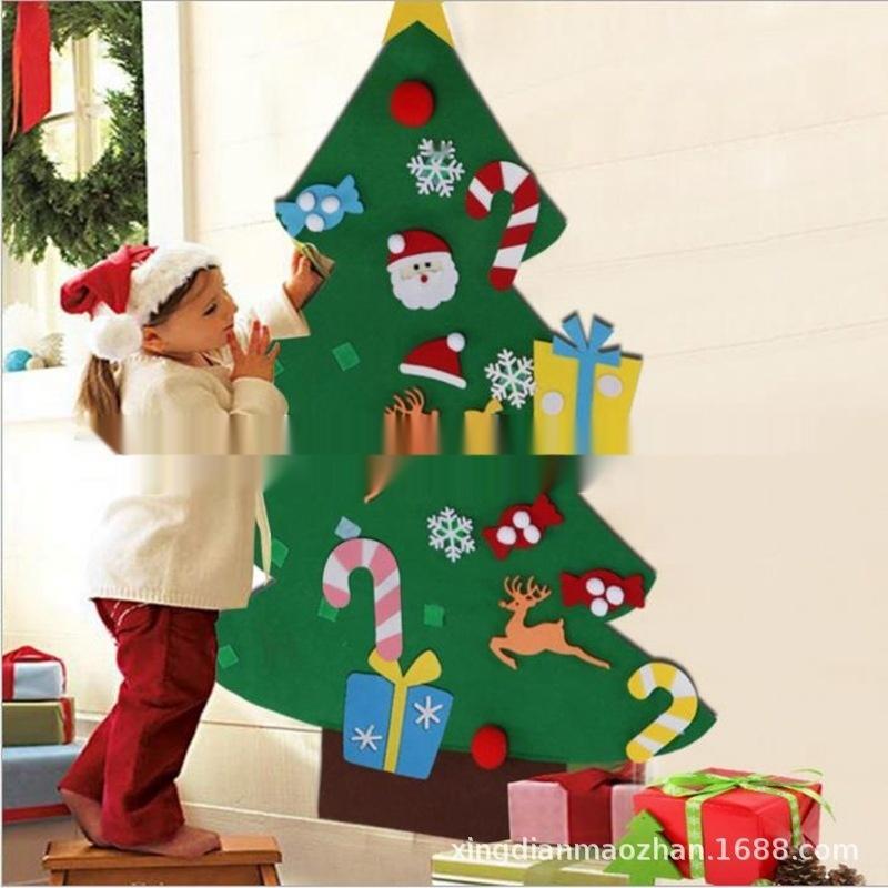 Albero di Natale in feltro decorazione non tessuto a mano non tessuto Diy di puzzle fai da te appeso decorazione dell'albero di Natale ceLai non tessuto