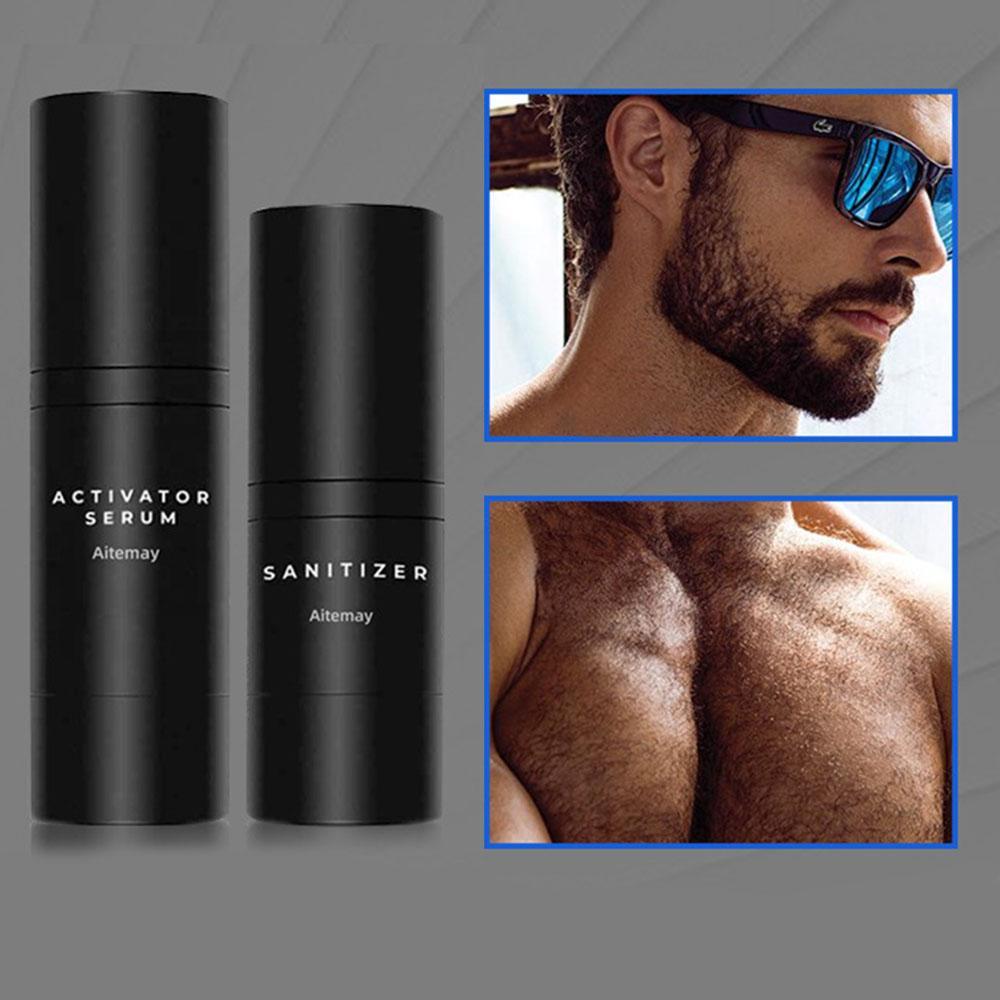 4 шт. / Комплект парикмахерской Beard Beard Kit Professional Enhancer для волос набор питания с бородой рост роль ролика массаж расческа для мужчин