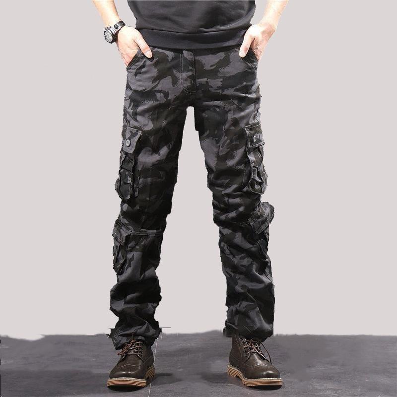 Autumn Winter Pants Men Loose Cotton Army Tactical Pants Black Camo Trousers Men Casual Camouflage Cargo Pants Pantalones hombre Y1114