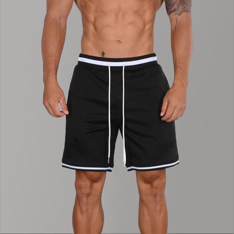 Musculação Basketball Shorts de Verão Correr Desporto Mens Jogger Shorts Workout Hip Hop Quick Dry longa listrada Causal