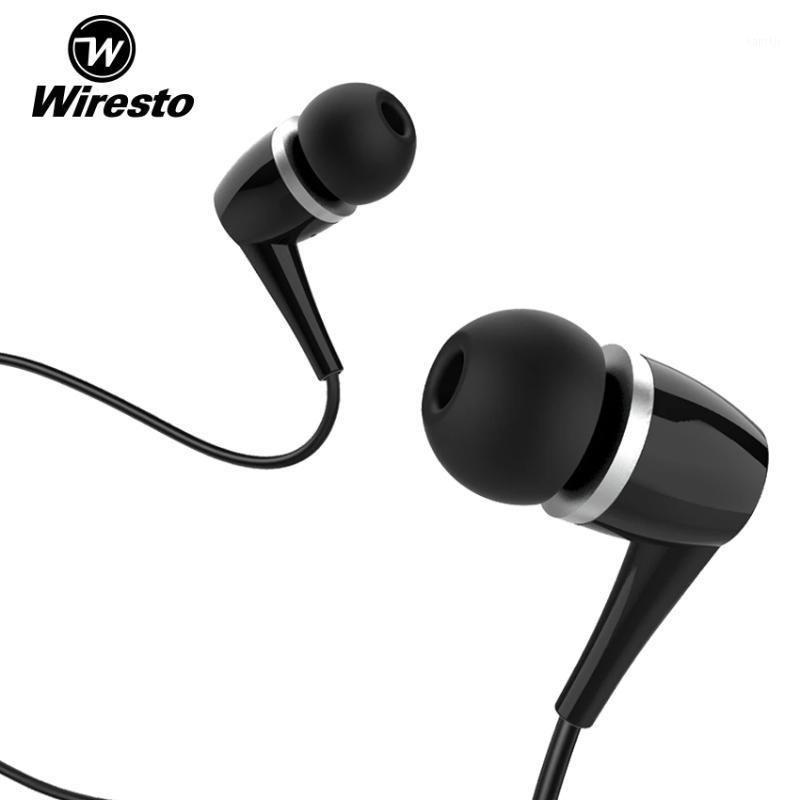 Wiresto In-Ear Headphones Earphone Wired Earbuds Heavy Bass Headphones Music Earphones Soundproof Earplugs No Ear Pain Earphone1