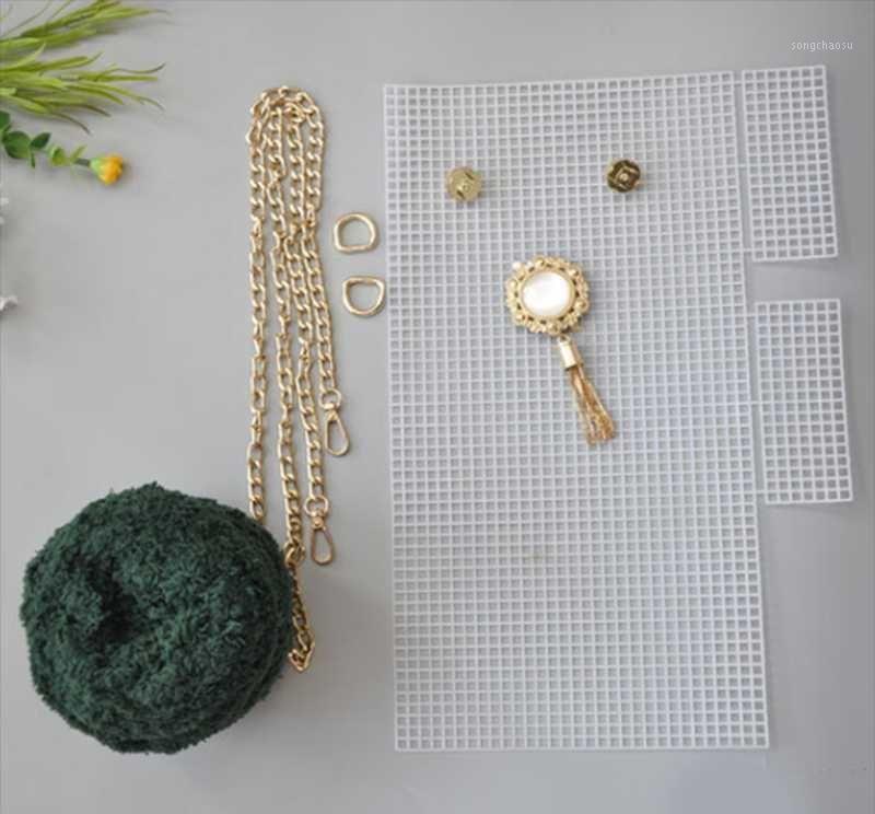 Coral Fleece Metal Punho Acrílico Net Material Conjunto para bolsa Bolsa DIY Handmade1