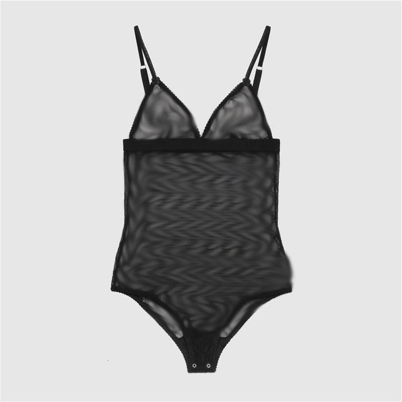럭셔리 자수 속옷 섹시한 브랜드 레이스 나이트웨어 여성 부드러운 얇은 란제리 편지 디자이너 Bodysuit 고품질 샴 도매
