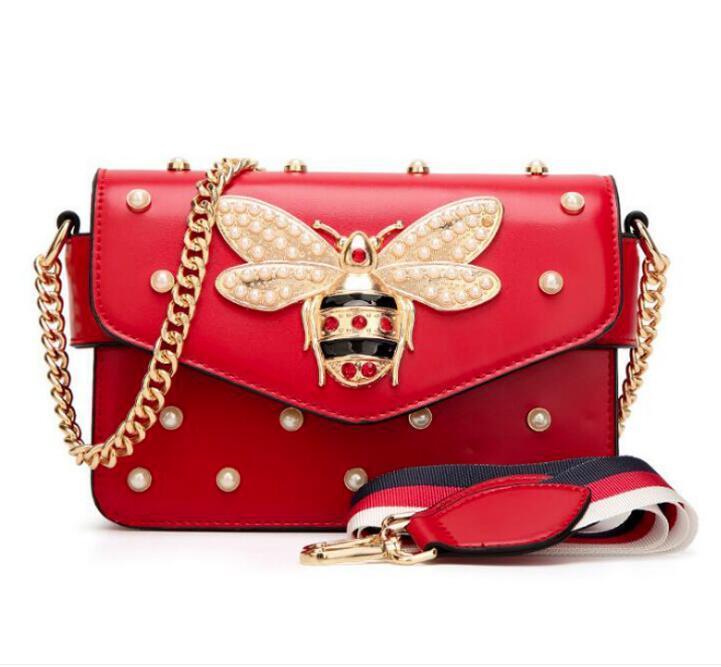 2020 여성 컬러 스 플라이 싱 리틀 꿀벌 핸드백 패션 Magneti 디자이너 럭셔리 핸드백 지갑 캐주얼 어깨 가방 크로스 바디 가방 미니 지갑