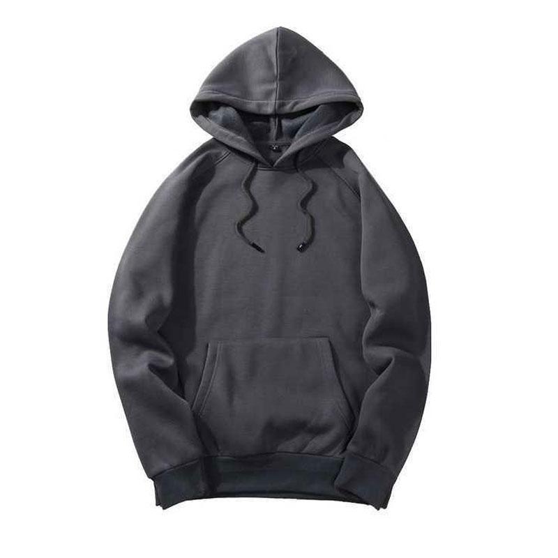 Adolescente Giacca Cappotto All-Match Colore solido Trend BASIC Trend Uomo e donna Studioso con cappuccio Maglione Personalizzazione