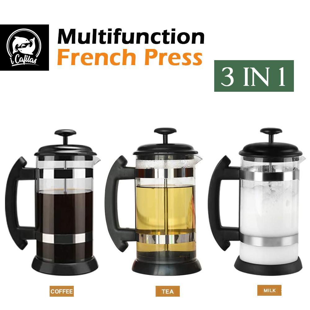 POT francese pressa in vaso resistente al calore pentole delicate tuffatrice tè resistente al latte durevole froothe kettles da caffè 1000ml Q0109
