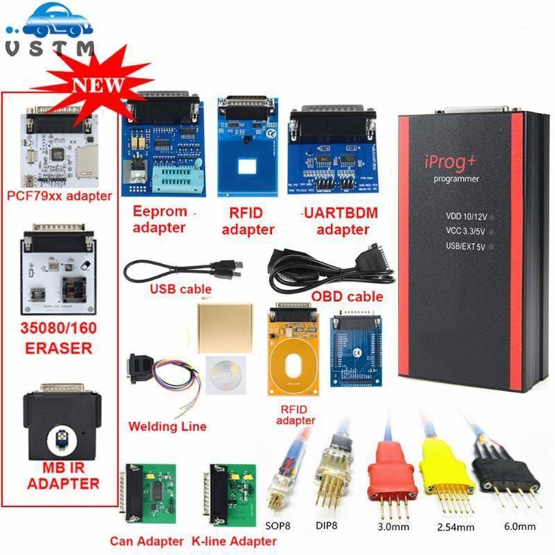 V85 IPROG + Key-Programmierer-Unterstützung Immo + Kilometerkorrektur + Airbag zurücksetzen IPROG PRO bis 2020 Ersetzen Sie Karproge mit 11 Adapter1