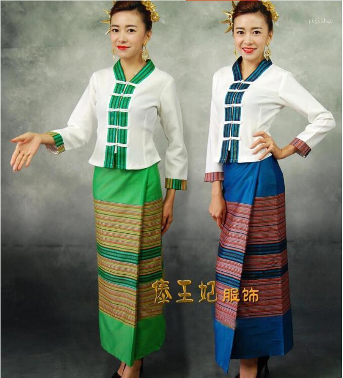 Abbigliamento etnico Manica lunga Dai Dai Traditional Restaurant Vestiti da lavoro Tailandia per donna1