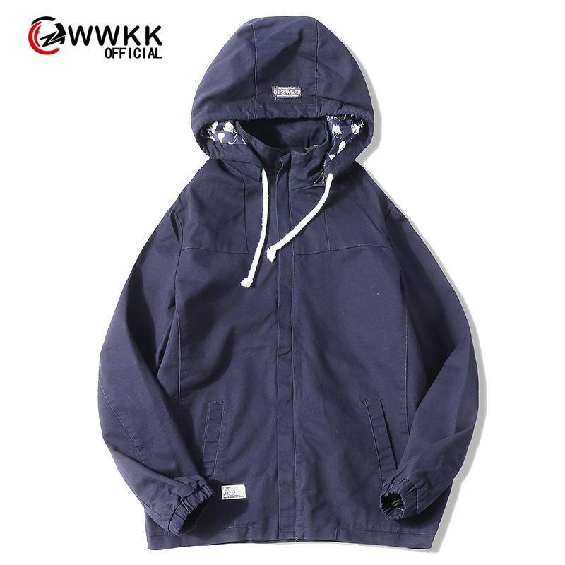WWKK 2020 Abnutzung der Männer beiläufige Einfarbig Jacke Slim gut aussehende Frühjahr Herbst beiläufigen Normallack Größe Baseball Kleidung