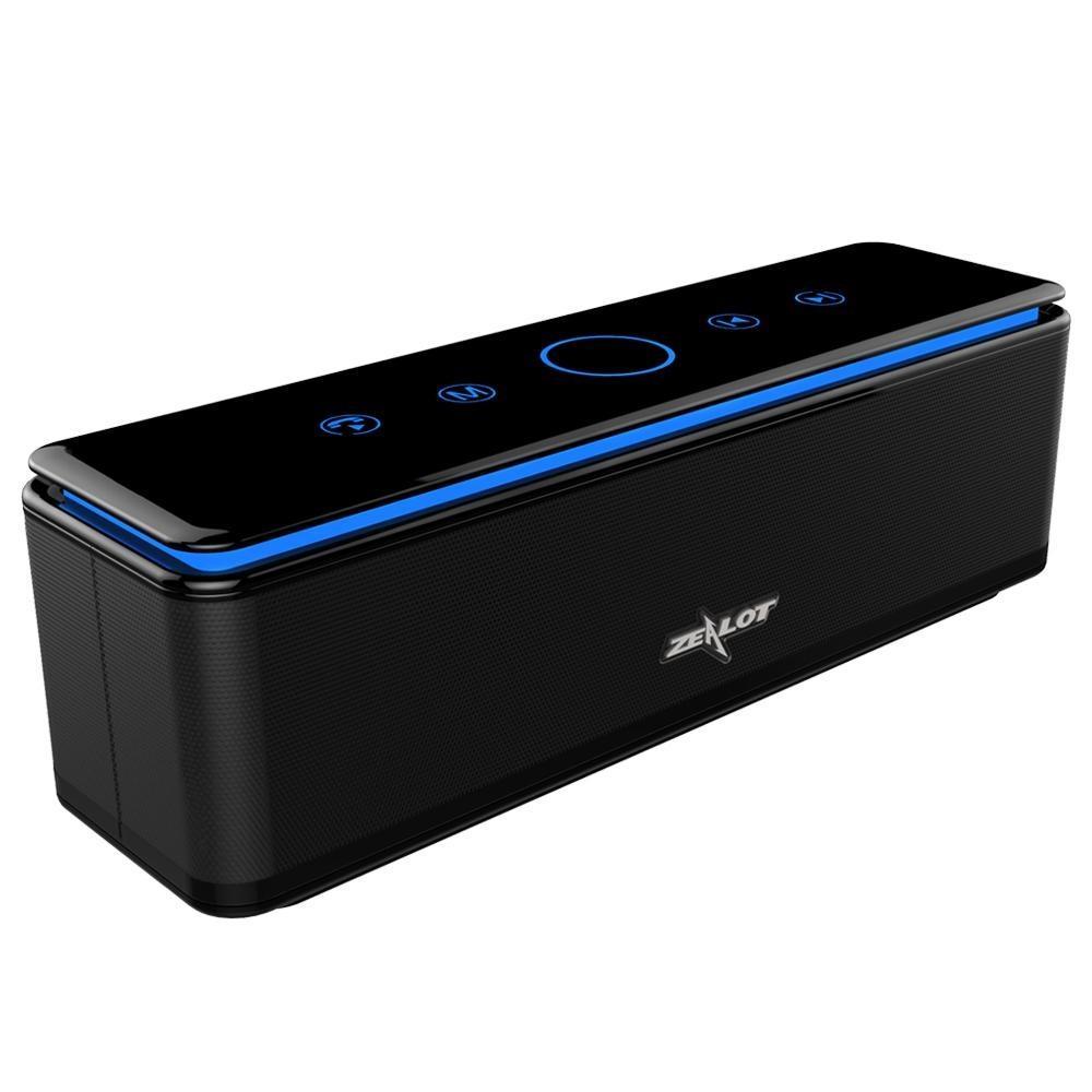 Altavoces ZEALOT S7 altavoz Bluetooth portátil Potente subwoofer de cine en casa de alta fidelidad sin hilos del sistema, Banco de alimentación Soporte de tarjeta TF 8000 mAh