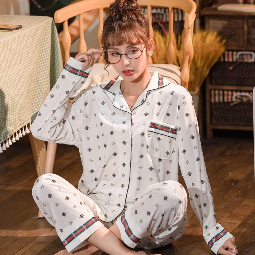 t3b4 Luxury пижама костюм Сатин Пижамы Pijama Пара цветов Главная Пижамы Printed наборы Lover Ночной костюм Мужчины Женщины Повседневная семьи Ткань