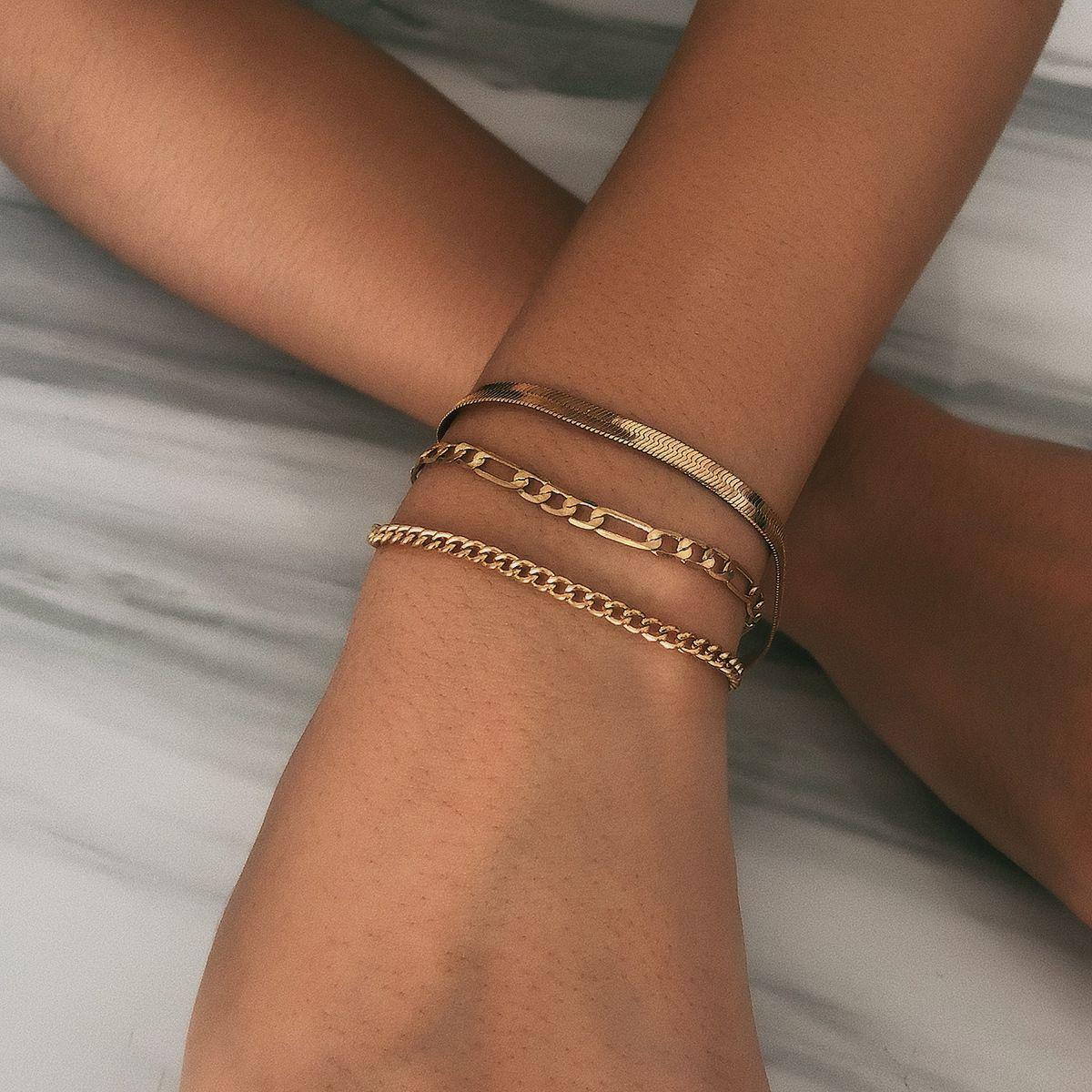 O ouro de prata empilhamento empilham o encanto pulseira pulseira multicamada pulseiras mulheres pulseira punho moda jóias e presente de areia
