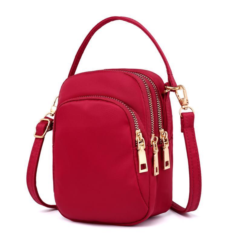 Impermeable Trabajo Transporte Celular Crossbody Mini Nylon Moda Mujeres Pockets Zipper Hombro Salida Multi Lightweight Bag Katse