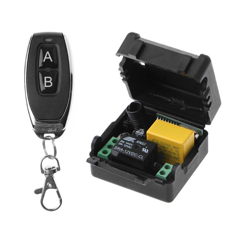 Remote Controlers Control 433MHZ AC 220V 10A 1CH RF Wireless Switch Receiver + Transmitter Kit