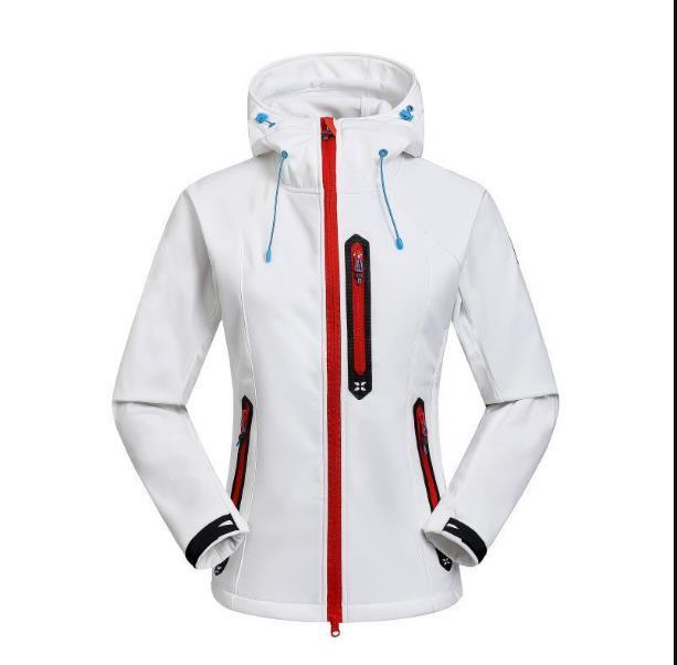 고품질 여자 양털 꼭대기 생체 생체 소프트 쉘 자켓 야외 방풍 및 방수 통기성 후드 코트 S-XXL