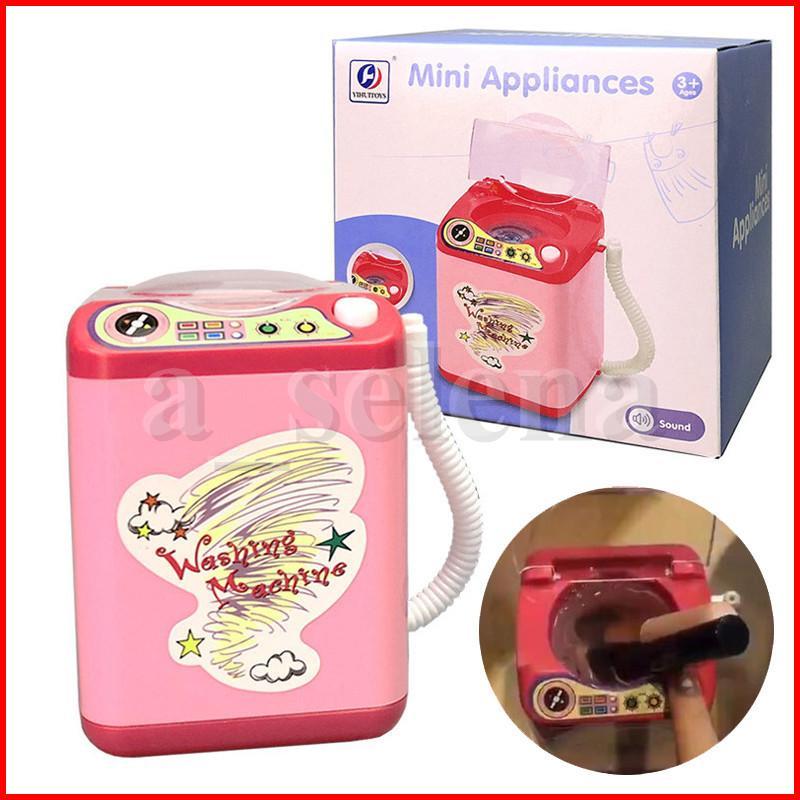 Mini lavadora eléctrica maquillaje pincel lavadora portátil automático lindo cosmético polvo polvo limpiador maquillaje dispositivo de limpieza