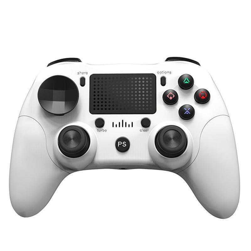 Sem fio Bluetooth Game Controller Build-in Six Axis vibração dupla com Imprensa Panel Gamepad para / Android / PC