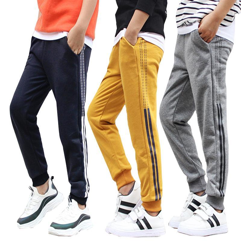 Детская одежда вязаные спортивные штаны для мальчиков девочек осенью и зимой корейские брюки утолщенные тепло в большой детской одежде 201207