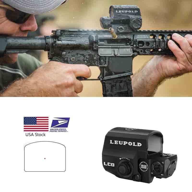 Leupold LCO Red Dot 홀로그램 리플렉스 시력 모두 20mm 레일 마운트 야외 사냥 범위 소총 콜리메이터 명소