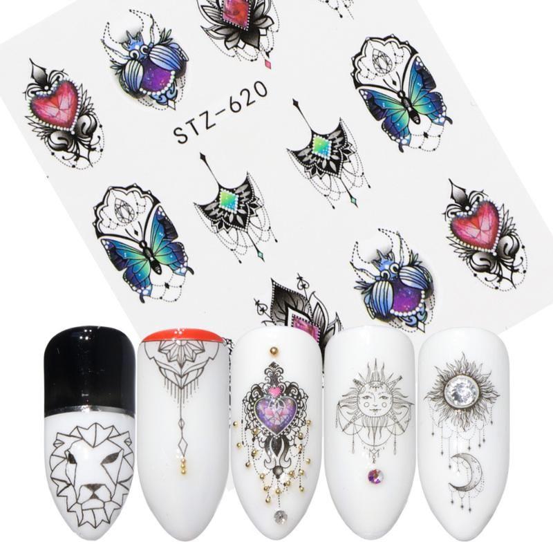 Décalcomanies Décorations Nail Sticker-manucure-Slider Fleur-adhésif Bricolage 3D gaufrée