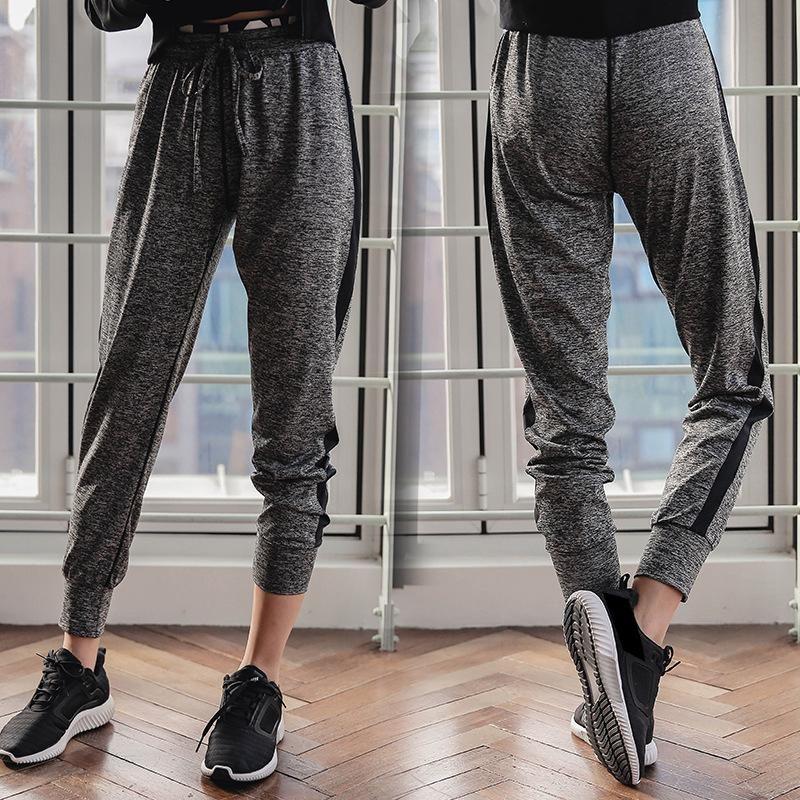 Reallion Mulheres Cintura Alta Sorrida Calças Esportivas Largo Perna Flare Calças Larga Perna Fitness Yoga Mulheres Calças S-2x Plus Size