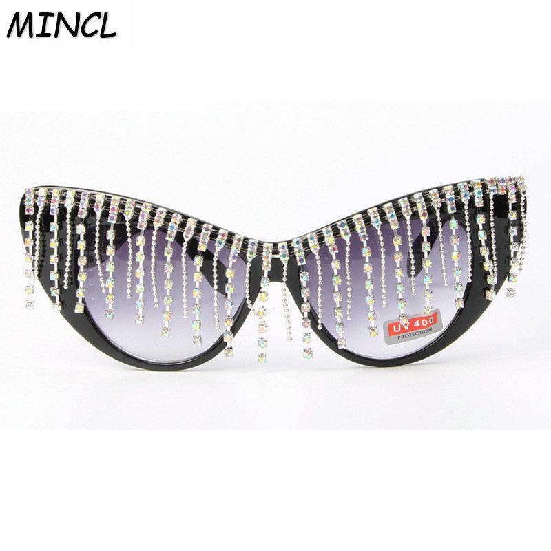 Óculos de sol mulheres borboleta moda óculos blinging cristal gato diamante strass moldura 2020 mulheres sol fml lwkgd