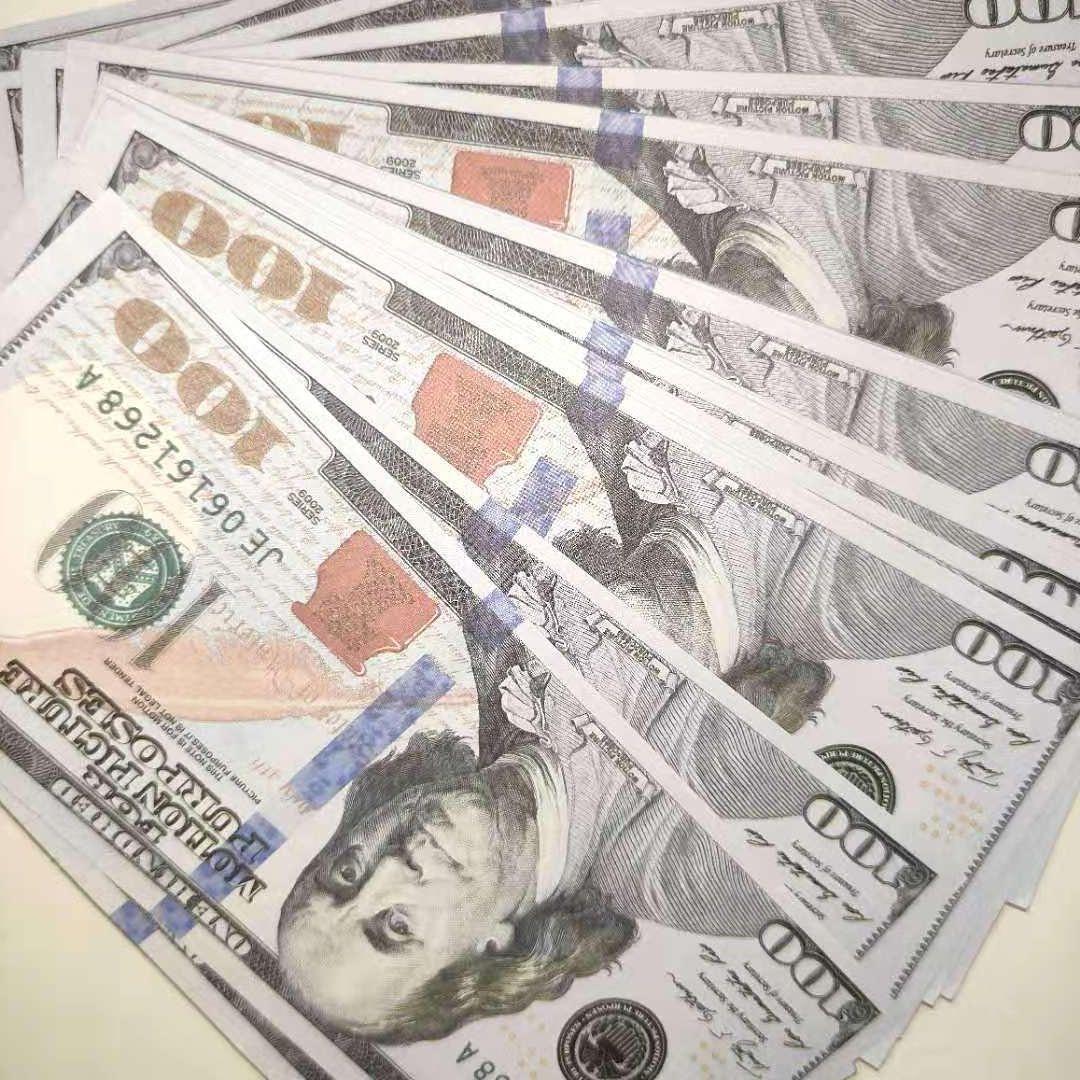 NightClub Quality PROP Hight Preteate Bar 100 Деньги Притвориться Стеки на сумму бумаги в долларах, Kauiw