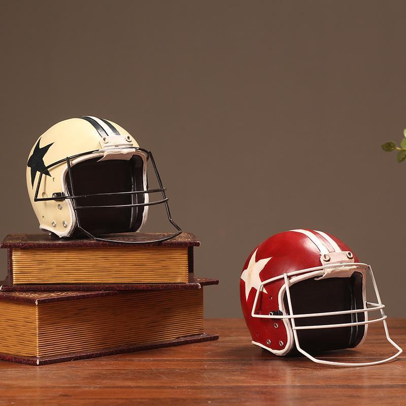 New Design Handicrafts American Rugby Baseball Cap Creative Ornaments Make Old Props Helmet Model Home Window Decorations