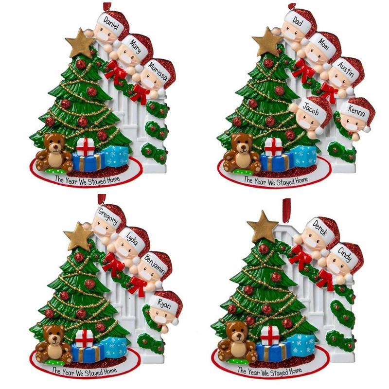 Venta al por mayor más nuevo 2020 colgantes de bricolaje Nombre de PVC Santa Claus Máscara colgante ornamento de navidad regalo de Navidad de Santa Claus cara
