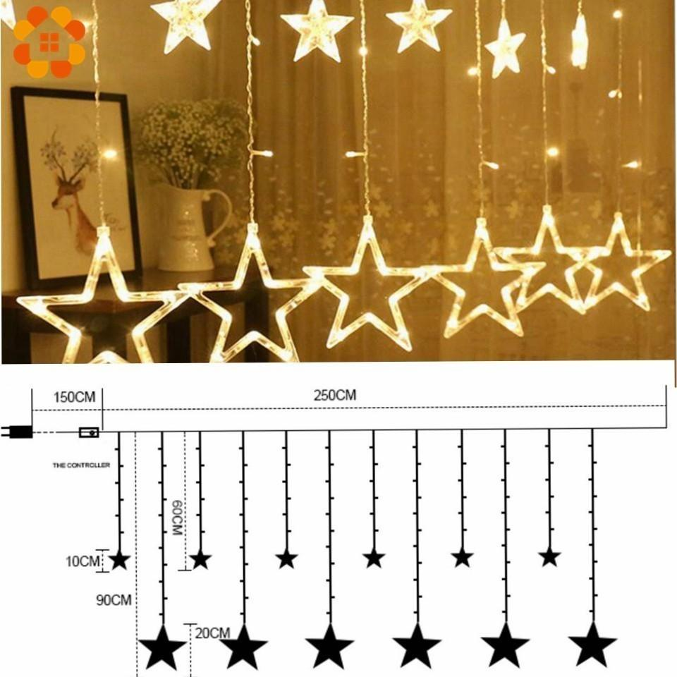 1Set 3 Styles Ramadan Star&Moon AC 220V LED Garland Curtain String Lights EID Mubarak Decoration Wedding Birthday Party Supplies 201204