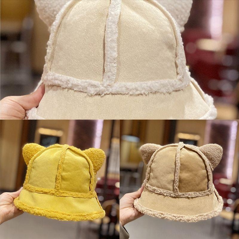 W2UV Moda Kış Şapka Kadınlar Için Yüksek Kalite Kürk Kova Tasarımcı Şapka Balıkçı Sıcak Kapaklar Mektup Panama Siyah Beyaz Vintage Balıkçı