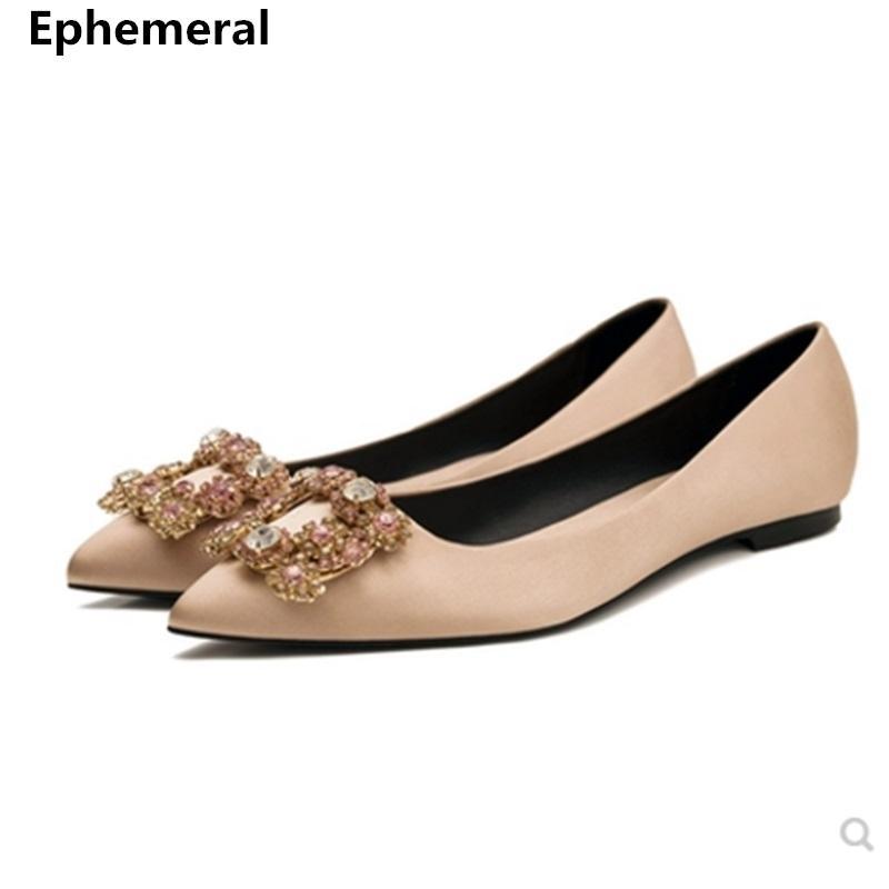 Maior Tamanho 34-45 Branca Calçados Mulheres dedo do pé Pointed Loafers Flats Ouro Vermelho Luxo Ballet Deslizamento-na respirável Cinderella Moda 201022