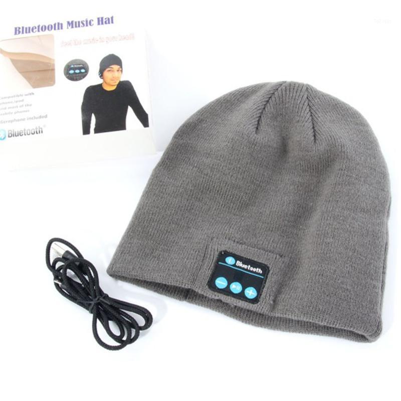 Оптово-Новая Теплый шансный шапка Wireless Bluetooth Smart Cap Headphone Headset Heaper Mic1