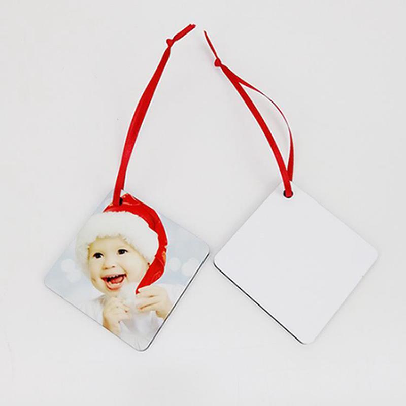 التسامي MDF فارغ نقل الحرارة الطباعة الحلي عيد الميلاد قلادة زهرة الثلج دائرة عيد الميلاد فارغة لوحة IIA761