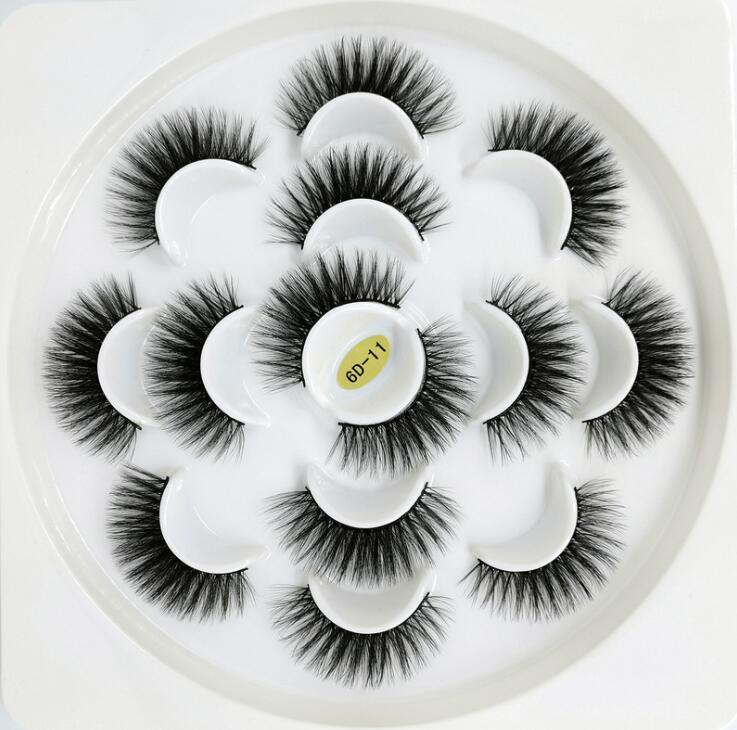 7 أزواج 3D المنك الرموش اليدوية الطبيعية لفترة طويلة فو المنك جلدة المرأة ماكياج كاذبة أدوات جلدة الامتدادات Maquiagem قطرة شحن