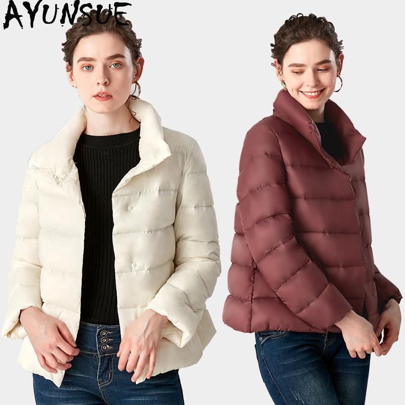 Ayunsue 2020 Frauen-Herbst-Winter-Mantel-Frauen koreanischer Ultra Light Daunenjacken Female Puffy Jacke 8865 Kj2673