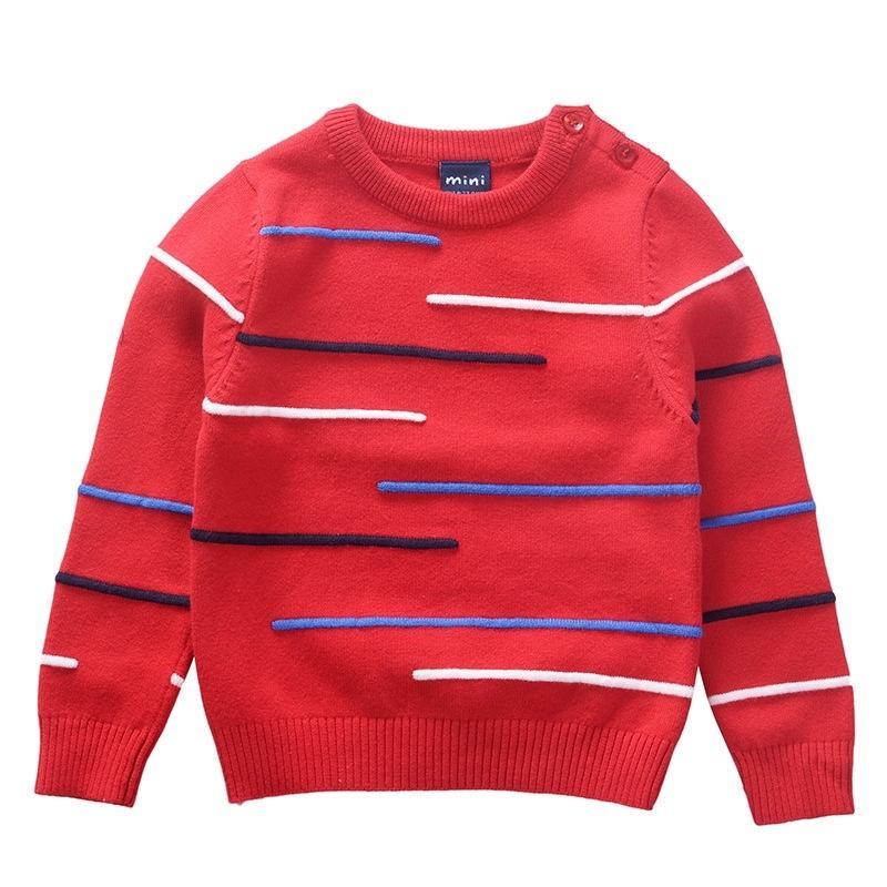 Малыши мальчики девушки свитера детская одежда детские дети пуловер хлопок вязаный носить теплый зимний осень 201201