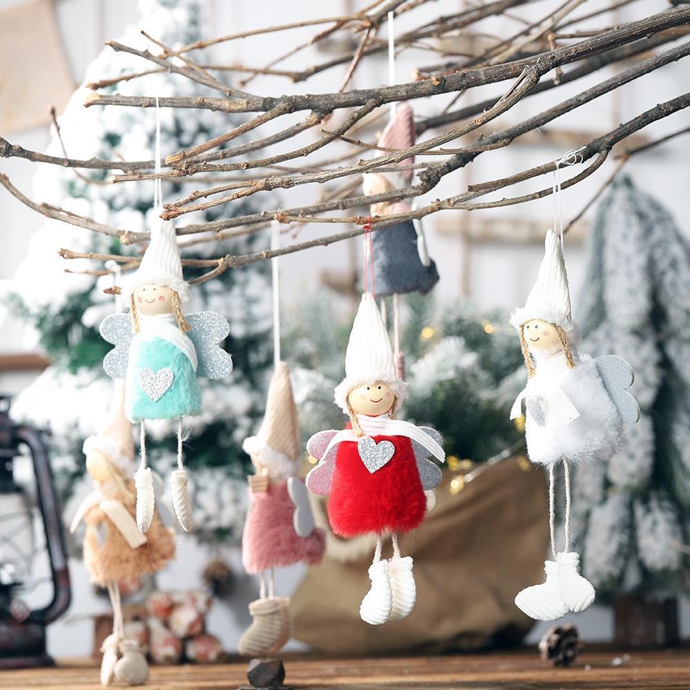 Zicheng Weihnachten neue Verzierungen pendanthanging Beine liebe Engel kleine Anhänger Plüsch-Puppe kleine Puppe Anhänger heißen Verkauf ufSM6