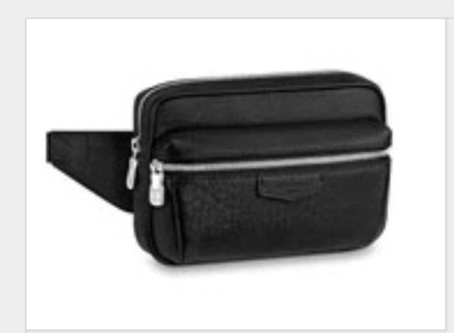 2020 Классическая мода черный цветок талии карманные пакеты Breded Men Classic настоящая кожа талия карманные мешки мужчины крест тела