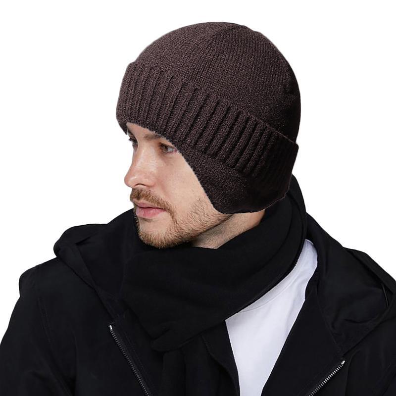 Moda del capo del sombrero para los hombres y las mujeres de punto Otoño color sólido Skullies Gorros Primavera Casual suaves Turban Sombreros de Hip Hop Beanie