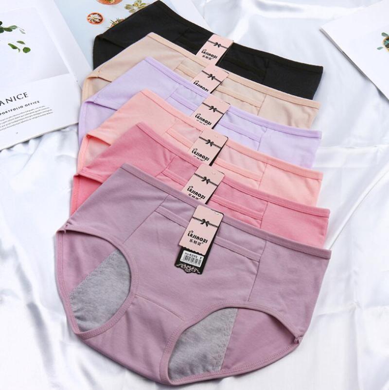 Teenage Girl Culotte Culotte Menstrie Sous-vêtements Physiologiques Maiden Coton Dentelle Pantalon Fuite Sanitaires Sous-vêtements Sanitaires avec Pockets Gardez au chaud1