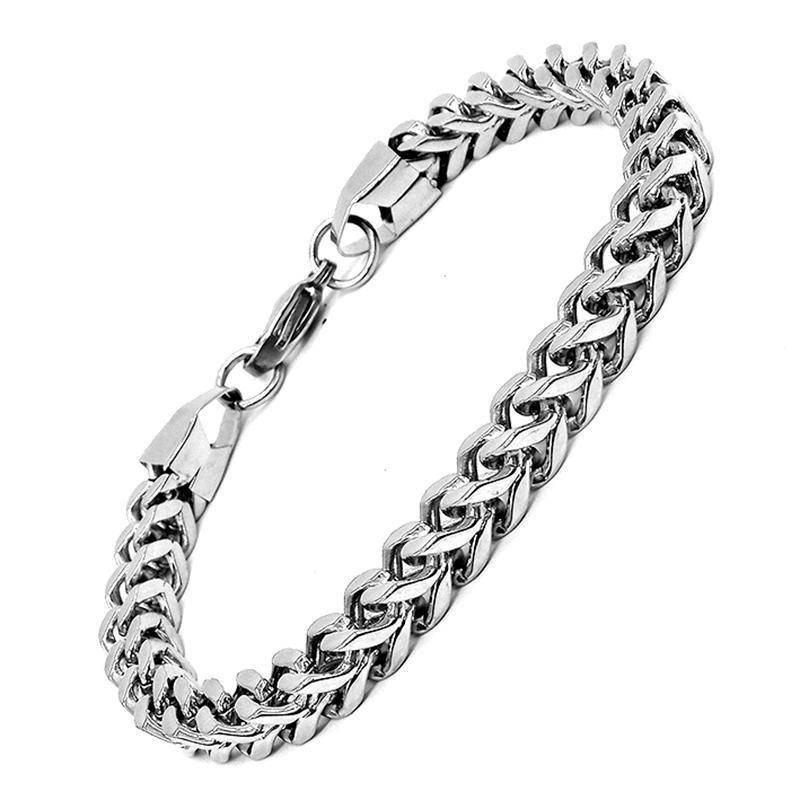 AMUMIU Moda Ouro Pulseiras para Mulheres Homens Curb Caracol Box Trigo Rolo trançado Ligações Chains 2022 HZB148