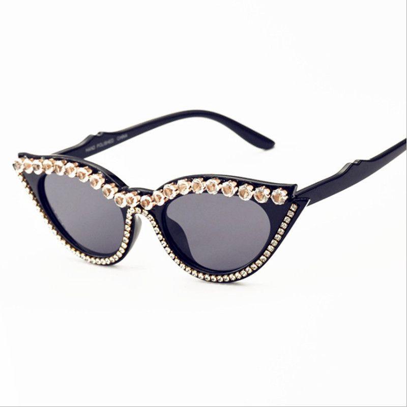 Eye 2020 nuova tendenza triangolo della moda del gatto per gli uomini e le donne di strada colpo con gli occhiali da sole di diamanti