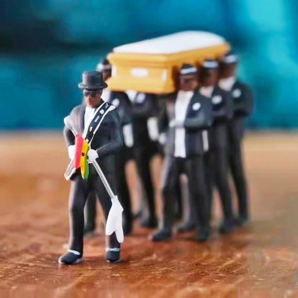 Sarg Tanz Anzug Männliche Funeral Dance Team anzeigen Kostüm Kostüm Cosplay Mini Props