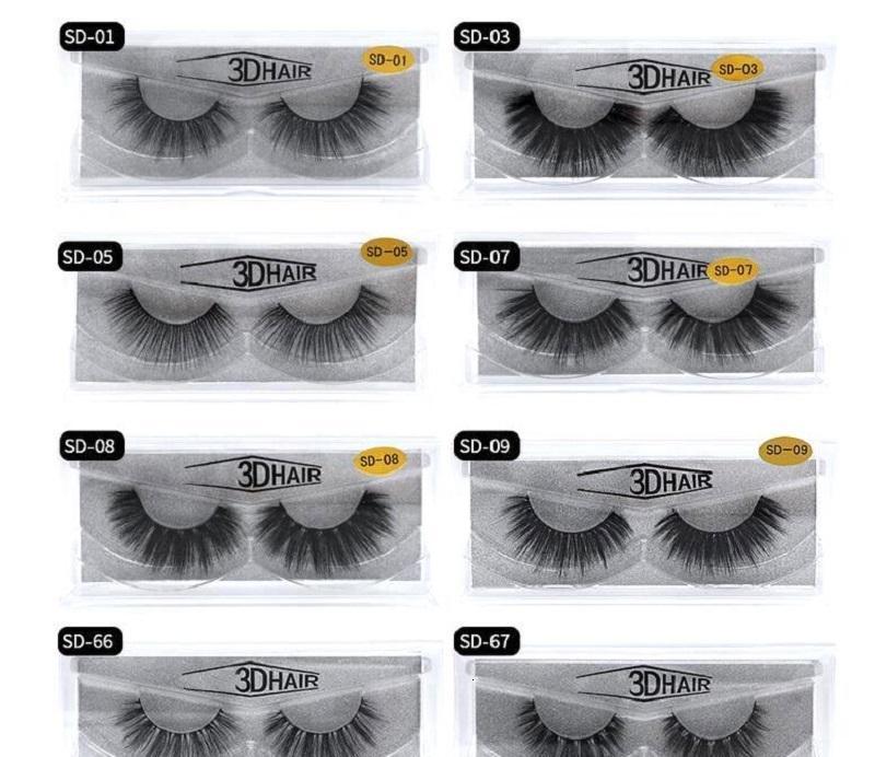 3D Vison Cils maquillage pour les yeux Mink Faux cils Faux cils épais et doux naturel Cils 3D Extension beauté Outils 17 styles