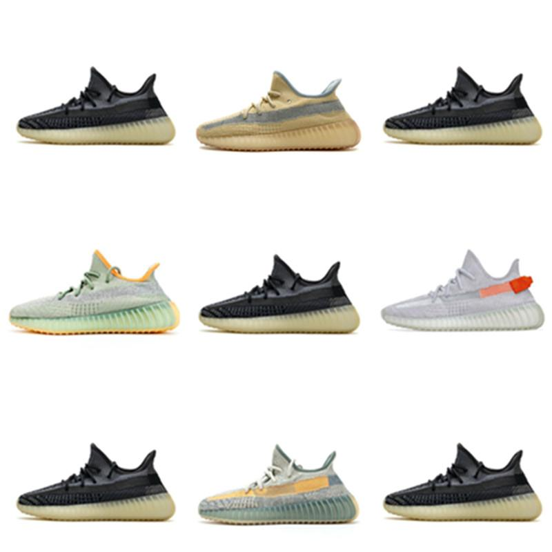 Top Kanye West Shoes Static Negro Reflectante Kanye Mens Womens Zapatillas Running Antlia Synth Lundmark Brillo Verdadero Forma Clay Zebra Crema Blanco