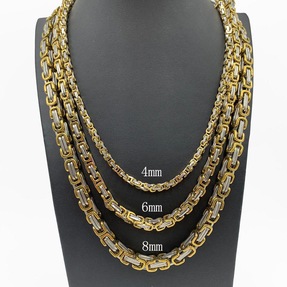 عالية الجودة الشرير المختنق قلادة قلادة سلاسل البيزنطية القلائد للرجال الفولاذ المقاوم للصدأ مجوهرات رجالية اليدوية والمجوهرات القلائد هدايا